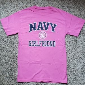Navy Girlfriend Tshirt